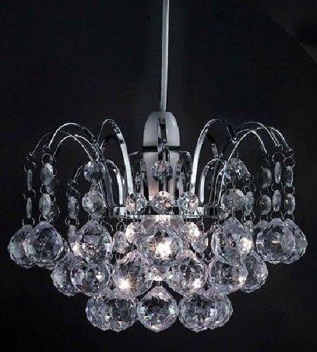 Modern Chandelier Style Ceiling Pendant Light Shade Acrylic Crystal Droplet Bead