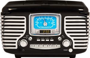 Details about Vintage Retro Classic Style AM/FM Dual Alarm Clock Radio w CD  Player Bluetooth