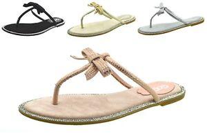 Scarpe-donna-sandali-bassi-estivi-scarpe-aperte-mare-infradito-borchie-e-strass