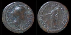 Thrace-Pautalia-Faustina-II-AE22-Tyche-standing-left