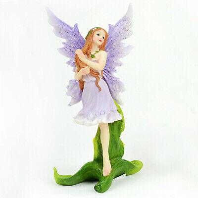 "2.25/"" x 2.25/"" Miniature Fairy Garden Dollhouse Shimmer Sitting Fairy Purple"