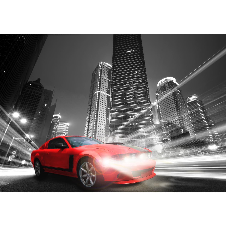 Fototapeten Tapete Fototapete Vlies Auto Stadt Wandbild XXL 3D Effekt Wohnzimmer
