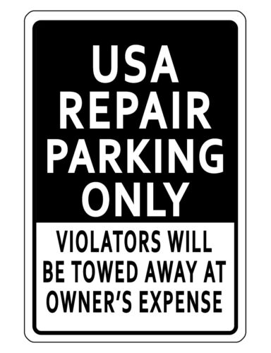 PERSONALIZED BUSINESS PARKING SIGN DURABLE ALUMINUM NO RUST CUSTOM SIGN BK#016