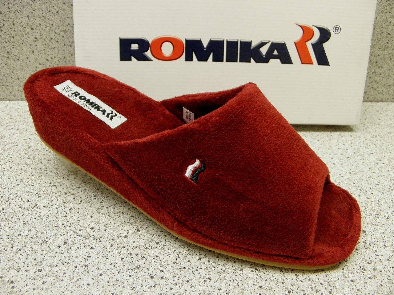 Romika ® réduit, Pantoufles, Bordo, éponge,  Paris  (542)