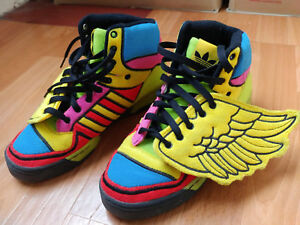 Details about Adidas Originals Jeremy Scott Sneakers 2ne1 Wings Sun Poppy Rainbow Shoes G61380