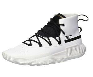 //Black 7 Under Armour Boys Grade School SC 3Zer0 II Basketball Shoe White 100