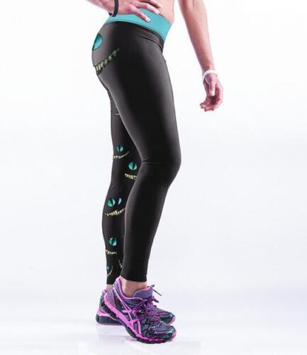 Women Leggings cheshire cat printed Legging high waist wide belt  S-4XL 171
