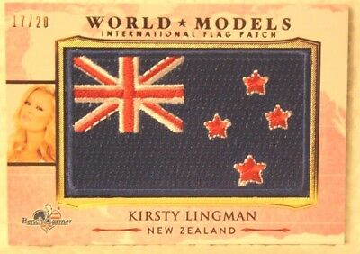 Have An Inquiring Mind 2017 Benchwarmer America The Beautiful World Models Wm18 Kirsty Lingman 17/20 Bright In Colour Collectibles