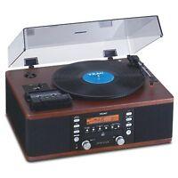 Teac Lp-r550usb Turntable Cd & Cassette Audio Dubbing Recorder System   Walnut