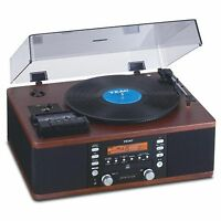 Teac Lp-r550usb Turntable Cd & Cassette Audio Dubbing Recorder System | Walnut