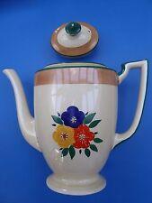 Hand Decorated Art Deco Minton Lawleys Norfolk Pottery Tea pot + free bowl + jug