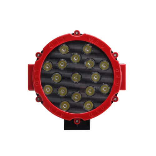 2X 7inch 51W LED Work Light Round Thin For Off-road Driving 4X4WD JEEP Boat Ford