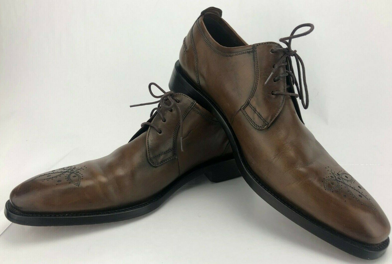 Cole Haan Dress Oxfords Brogue Toe Brown Lace Up Formal Leather Derby Mens 11 M
