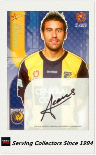 Mariders 2009-10 Select A League Soccer Signature Card SC3 Adrian Caceres
