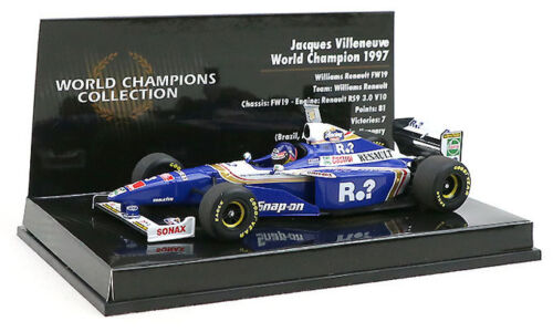 Minichamps Williams FW19 #3 1997 campeón del mundo-Jacques Villeneuve 1//43 Escala