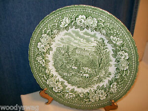 Vintage-H-Aynsley-Dinner-Plate-England-039-s-Heritage-Ironstone-Hand-Engraving-Flute