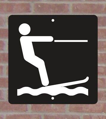Cross Country Skiing International Symbol .040 Metal Aluminum Sign