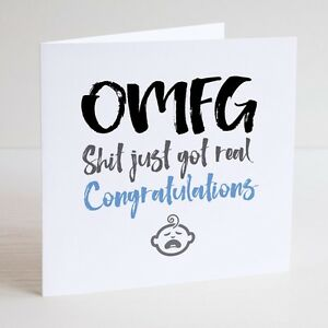 Funny greeting card cheeky humour new baby birth image is loading funny greeting card cheeky humour new baby birth m4hsunfo
