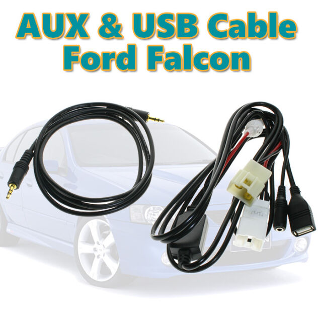 Aux in Audio And USB Charging Cable for Ford Falcon Territory BA BF XR6/8 MP3