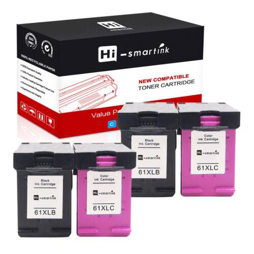 4PK 61XLInk Cartridges With Newest Chip For HP ENVY 4504 5530 5531 5535 Deskjet