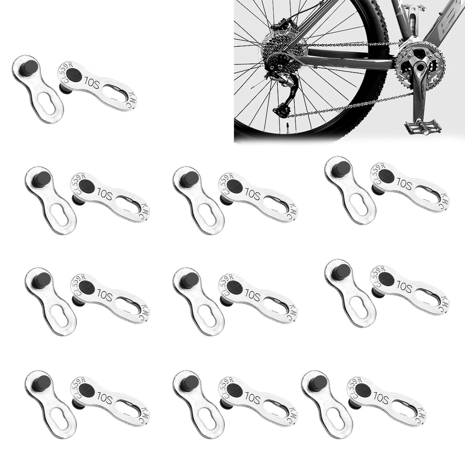 5 Pairs Heavy Duty Bike Quick Release Chain Link Joint Connectors for 6//78//9//10