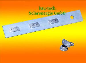 4 Stück Profil Verbinder ALU inkl. Hammerkopfs. Solar Photovoltaik PV Montage