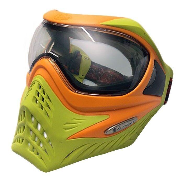 VForce Grill Paintball Thermal Maske Limited - orange on Lime