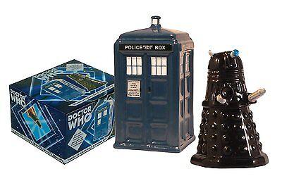 Doctor Who Tardis vs Dalek Salt and Pepper Shaker Set