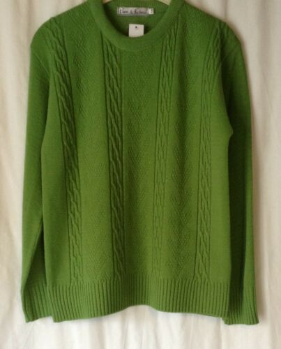 NEW LADIES ACRYLIC CREW NECK LONG SLEEVE KNITTED JUMPER *14 COLOURS* SIZES 10-16