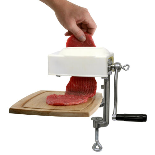 HAND MEAT TENDERIZER CUBE STEAK MAKER MANUEL FLATTEN CUBER GRINDER BUTCHER NEW
