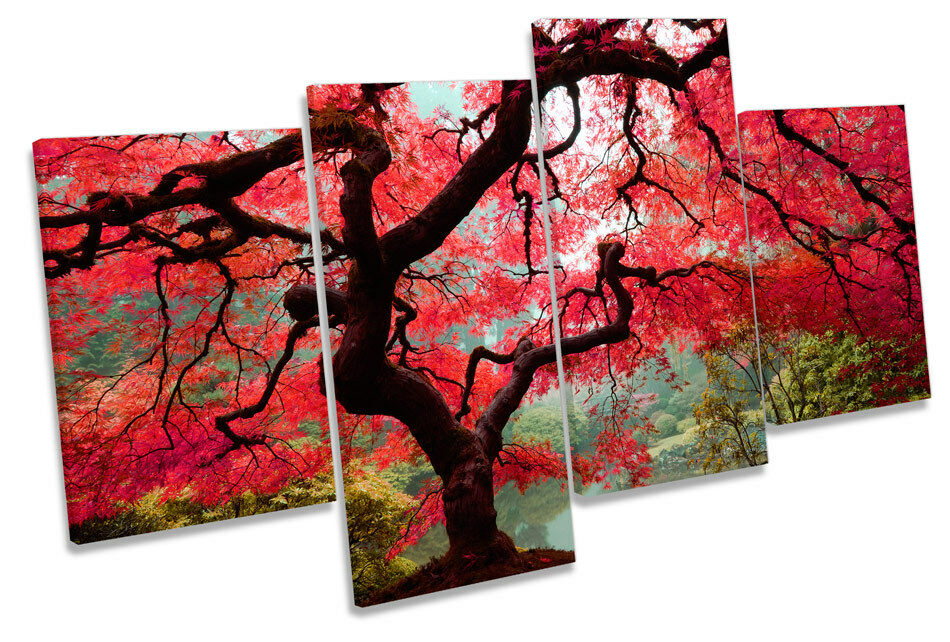 Autumn Maple Maple Maple Tree Floral MULTI CANVAS WALL ART Boxed Framed d6c03b