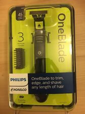 Philips Norelco OneBlade QP2520/70 Trim Edge Shave Cordless Rechargeable Razor