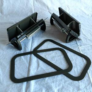 1 Pair Black Aluminum Popup Air Flow Low Profile Roof Vent Trailer & Gaskets