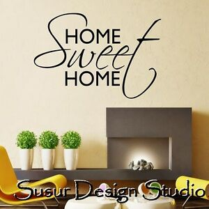 Wall art quote home sweet home wall sticker decal home Home sweet home wall decor