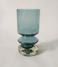 "60s 70s Riihimäen Lasi Oy ""1472"" H 20 cm Glas Vase Tamara Aladin glass Riihimäki"