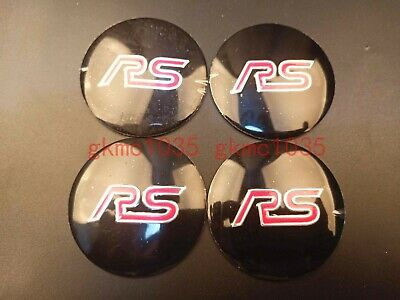 56MM RED Hub Caps For STI Wheel Center Mag Rim Hubcap Emblem Logo Sticker PLEASE MEASURE Before Purchase for Best Fitment Pack of 4 BLACK RENGVO