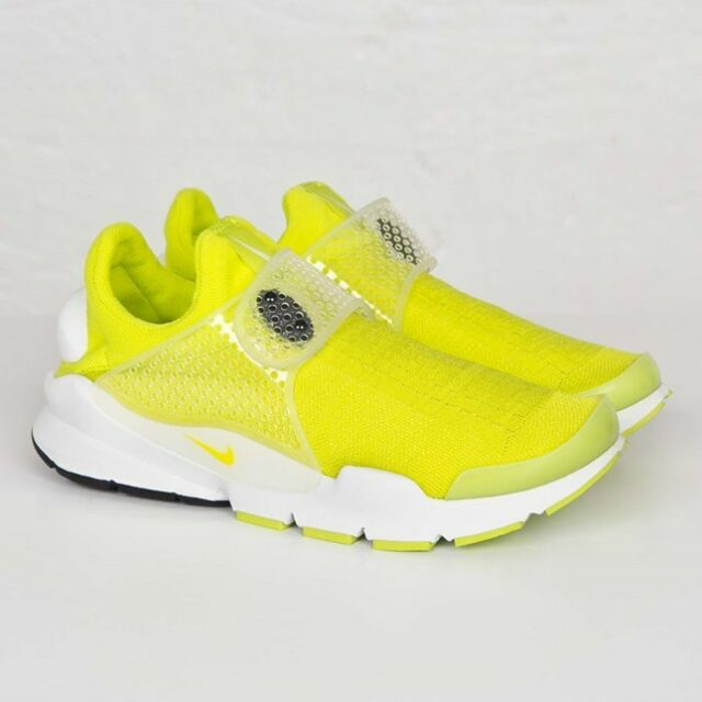 new concept 40666 7bbc9 Nike Sock Dart SP Shoes Neon Yellow Summit White Sz 7 ( 686058-771 )