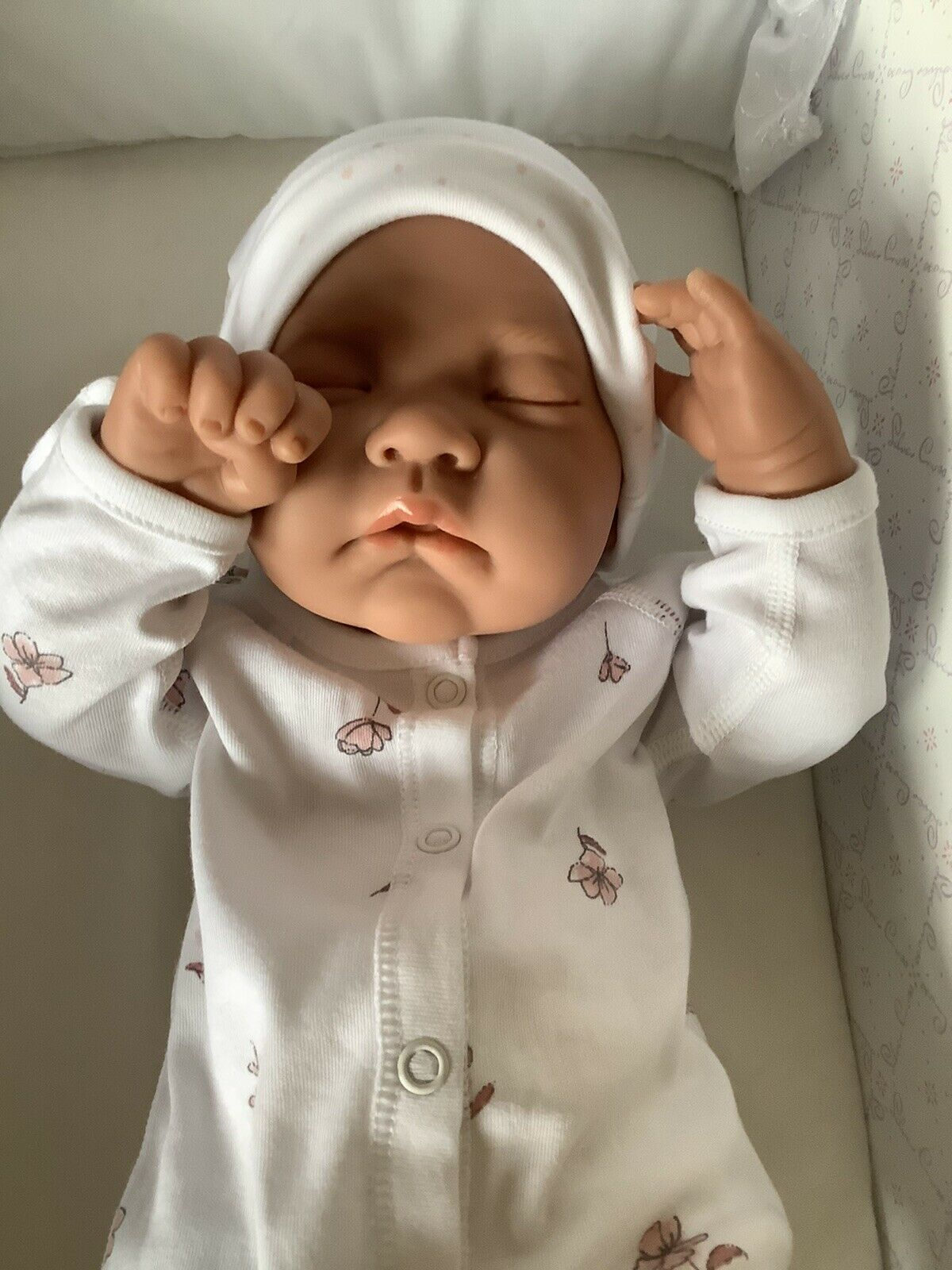 Beautiful Antonio Juan Baby Doll In Pink/White Premature Baby Outfit + Blanket
