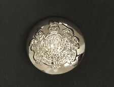 Ralph Lauren Coat of Arms Silver Color Replacement Main Front button .90""
