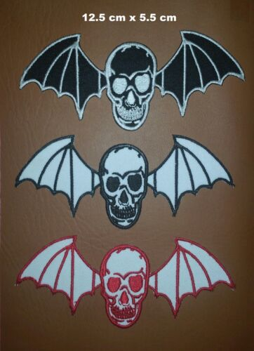 Avenged Sevenfold Death Skull Bat Rock Music Iron-on Embroidered Patch Badge