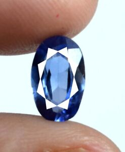 Free Certificate 1.80 Ct Blue Sapphire Oval Gemstone Natural Certified A18500