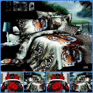 Sinle 3D Effect 4 Piece Printed Duvet Quilt Cover Luxury Complete Bedding Sets