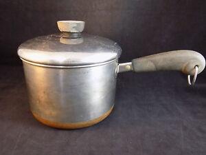 Vintage Revere Ware 2 Qt 78 Copper Bottom Pot Sauce Pan With Lid Ebay