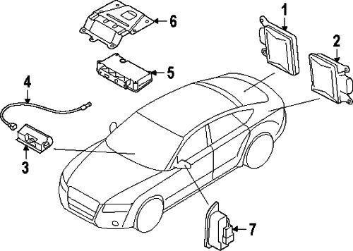 Audi A6 A7 A8 Control Unit Front Camera Drivers Assistance System