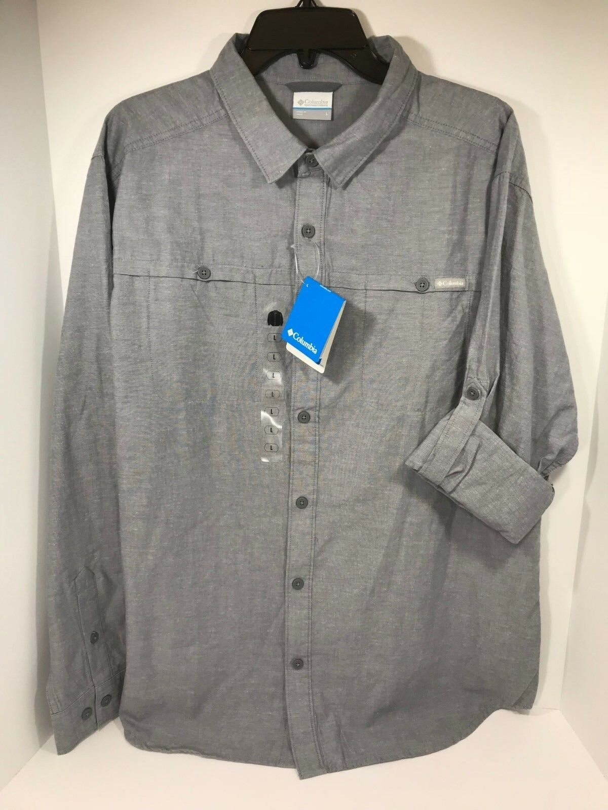 Columbia Men's Size Large Battle Mountain Cotton Long Sleeve Button Up Shirt