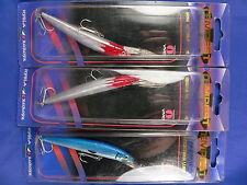 3 artificiali Tempest Ptel87 9cm 7gr, spinning luccio, spigola, black bass A9
