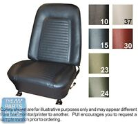 1969 Camaro Standard Black Front Buckets Seat Covers - Pui