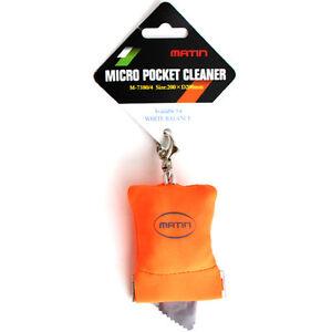 Matin-MICROFIBER-POCKET-CLEANER-Grey-White-Balance-Card-Orange