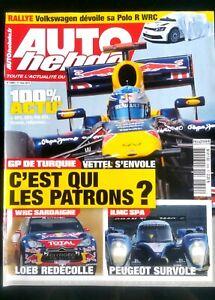 Auto Hebdo Du 11/05/2011; Gp De Turquie; Vettel S'envole/ Loeb Redécolle/ Peugeo