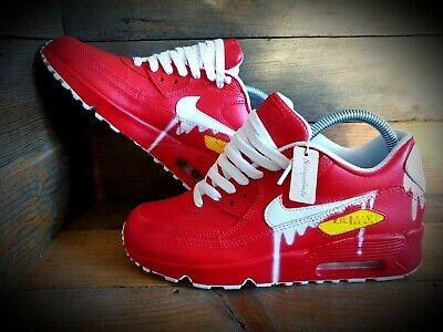 Nike Air Max 90/Custom Painted/Red/White/Ultra/Essential/ID/Force 1/Huarache